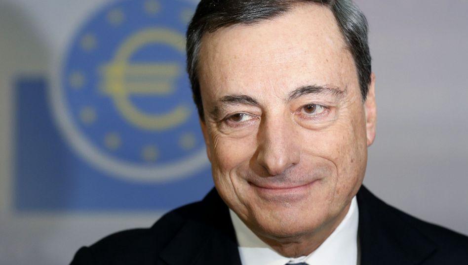 Gut gelaunt: EZB-Präsident Mario Draghi nach der Zinsentscheidung