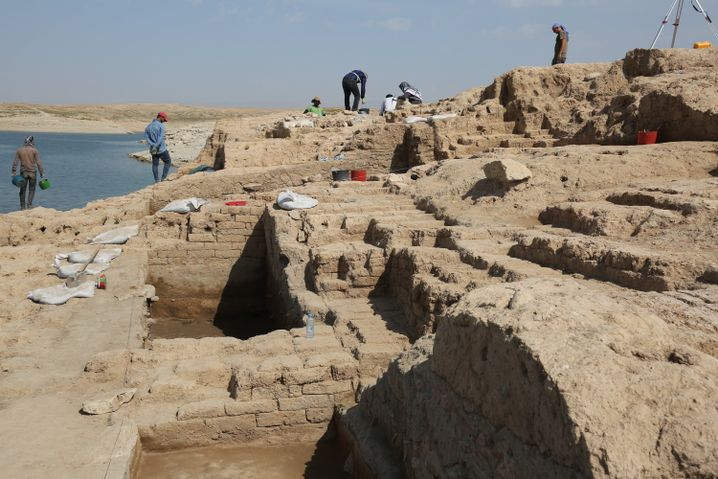 Alter Palast im Irak: Seltene Wandmalereien entdeckt