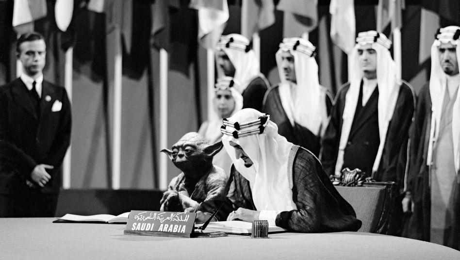 "Fotomontage des Künstlers Abdullah Al-Shehri alias ""Shaweesh"""