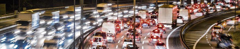 Rushhour auf der Berliner Stadtautobahn