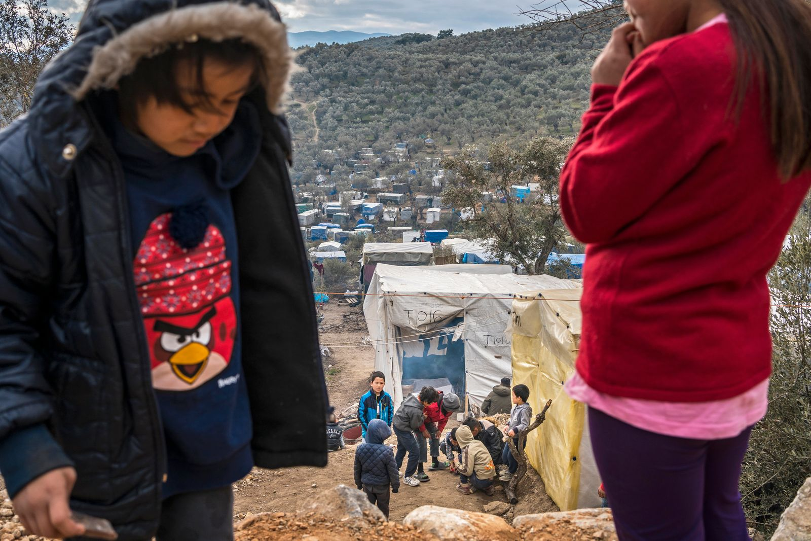 Greece, Lesbos, forgotten in the hell of Moria, the bigges refugee camp in Europe
