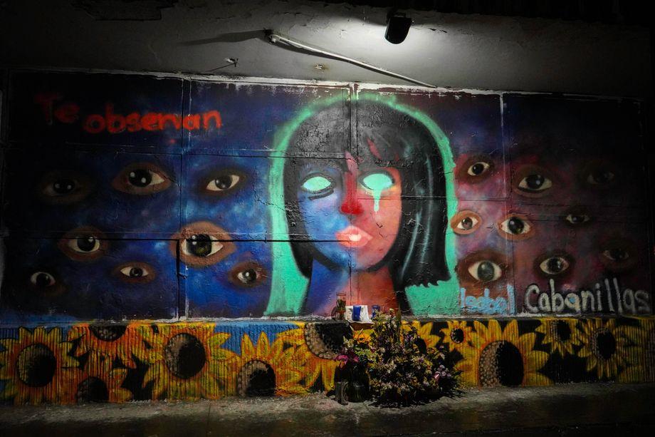 """Das letzte Wandgemälde, auch """"Mural"""" genannt, von Isabel Cabanillas"""