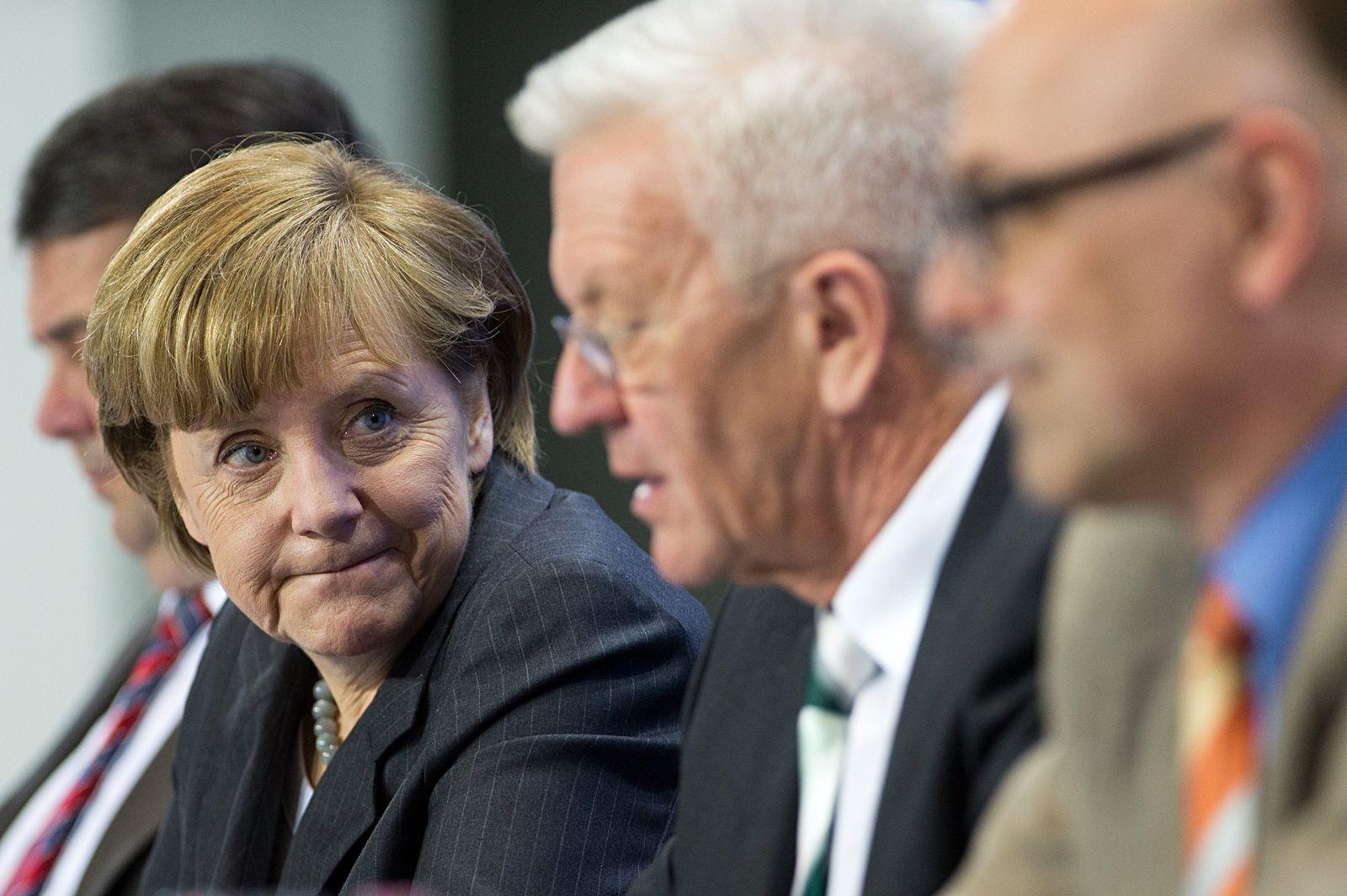 Energiegipfel Merkel Gabriel Kretschmann Albig
