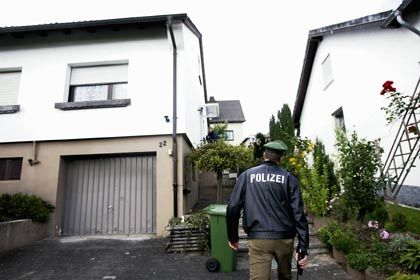 The three suspects were arrested at this vacation house in southern Germany.