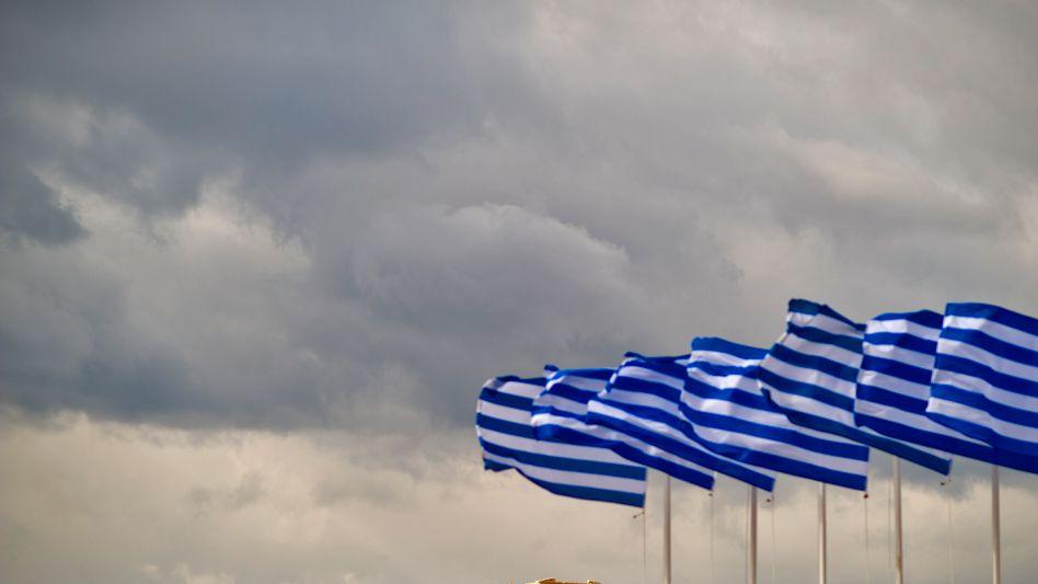 Griechische Fahnen in Athen: Kurze Verschnaufpause für Griechenland