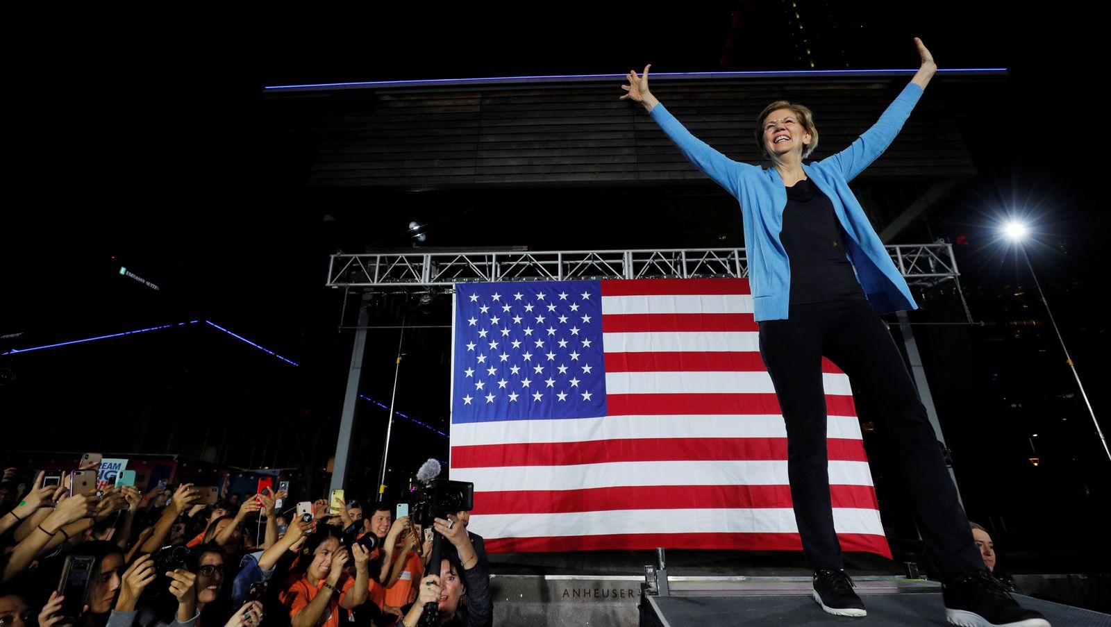 Democratic 2020 U.S. presidential candidate Warren campaigns in Houston