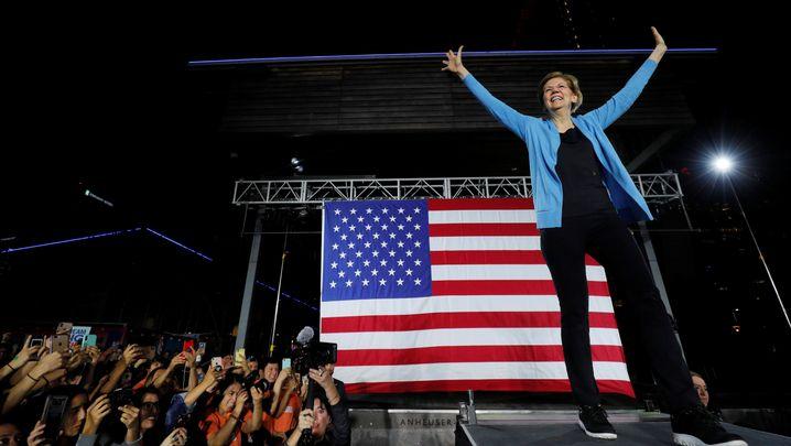 """""""Nicht ganz so, wie ich es erhofft hatte"""": Elizabeth Warren am Samstag im texanischen Houston"""
