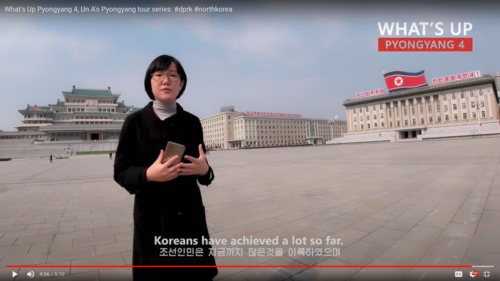 Screenshot der Sendung von Videobloggerin Un A: Schnell geschnitten, hochwertig produziert