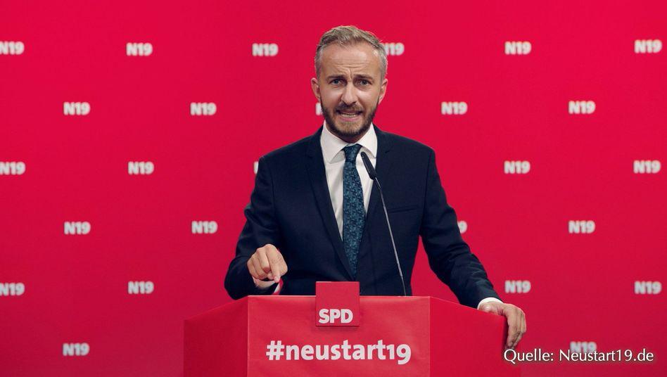 """Satiriker Jan Böhmermann: """"Rettung der deutschen Sozialdmeokratie"""""""