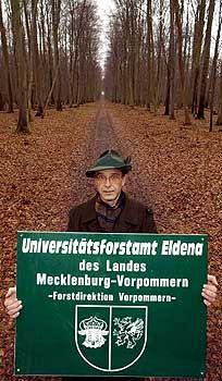 Wolfgang von Diest, Forstmeister der Uni Greifswald: Verantwortung aus Tradition