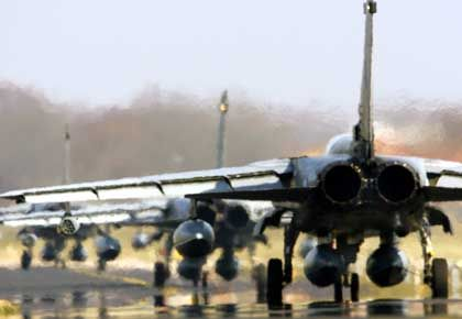 """Six German Tornado reconnaissance jets left for Afghanistan Monday. """"The mission is clearly and explicitly reconnaissance,"""" said Germany's defense minister."""