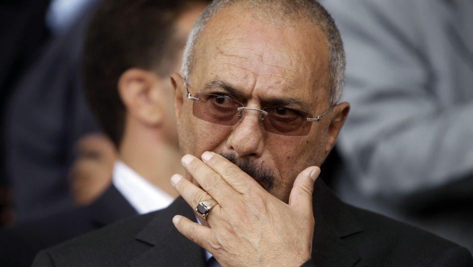 Jemens Präsident Salih (Archivbild): Raus aus der Klinik, Rückkehr in den Jemen ungewiss