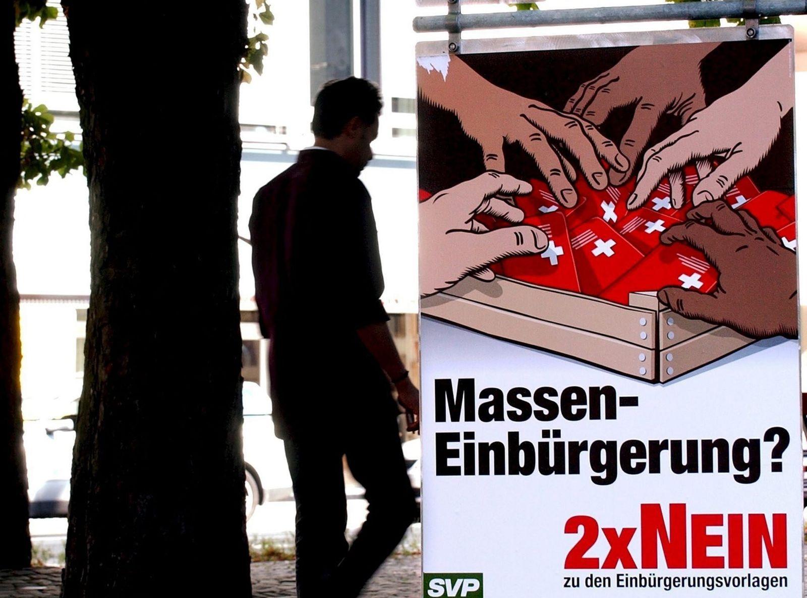 SVP / Plakat / Masseneinbürgerung / Zuwanderung