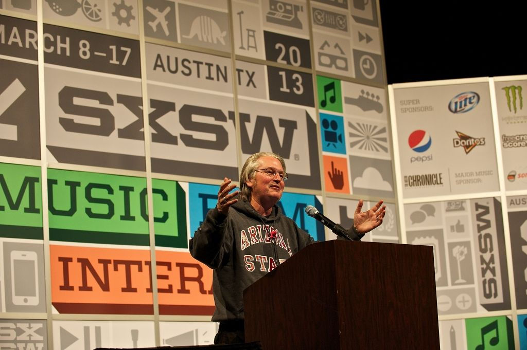 EINMALIGE VERWENDUNG SXSW 2014/ Bruce-Sterling_Debbie-Finley
