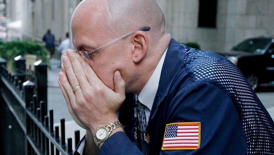 Entsetzter Händler am 15. September 2008: Pleite von Lehman schickte Schockwellen rund um den Globus