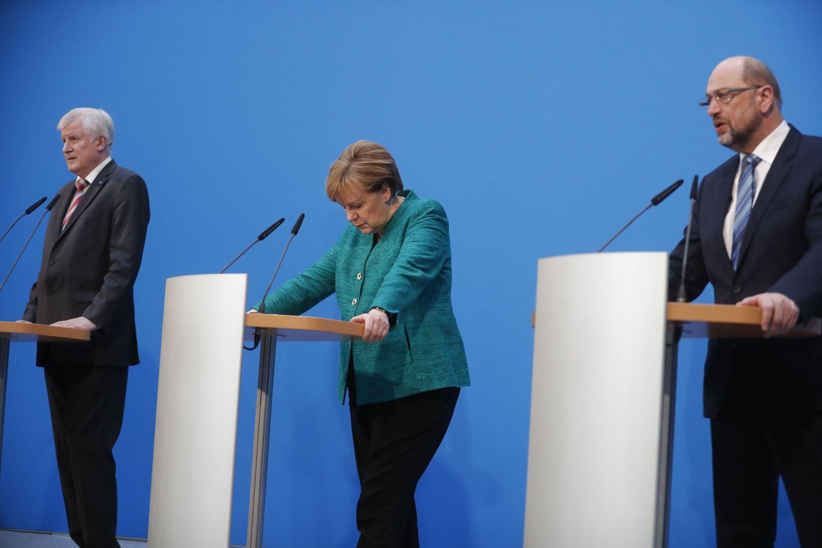 Merkel / Seehofer / Schulz