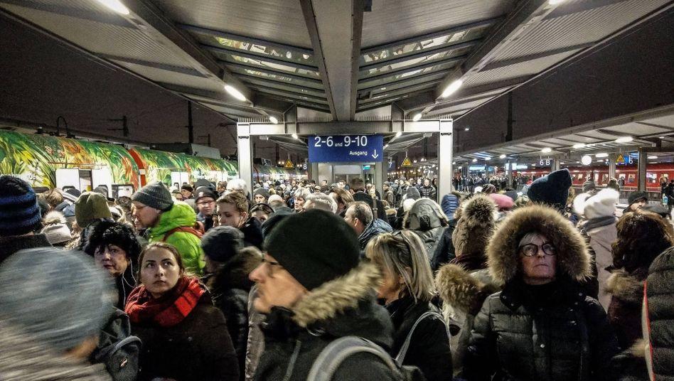 S-Bahn-Passagiere in München