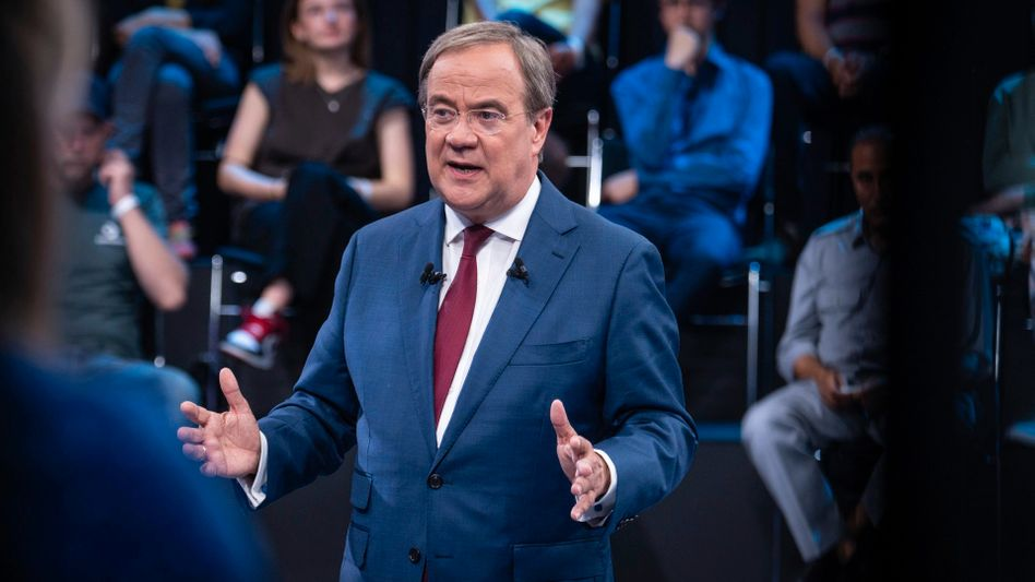 Unions-Kanzlerkandidat in der ZDF-Sendung »Klartext, Herr Laschet«