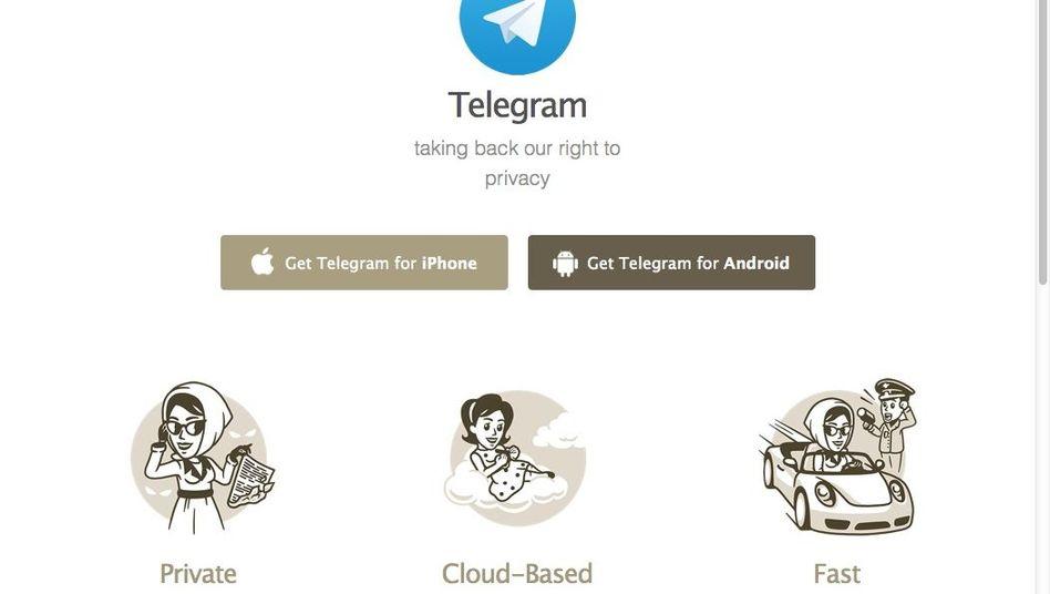 Download-Seite der App Telegram: mehr Meldeoptionen geplant