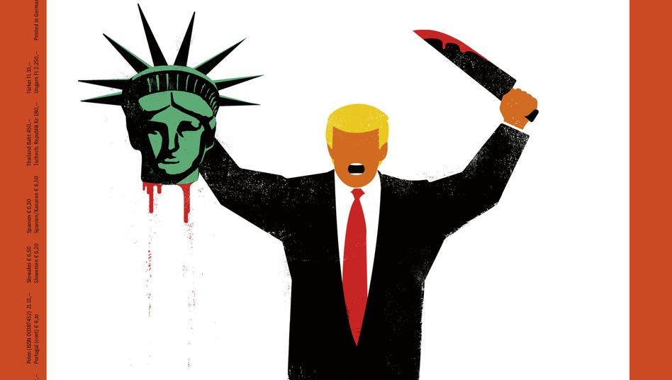 The cover illustration of DER SPIEGEL this week