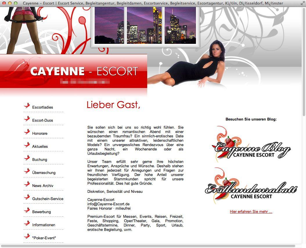 Screenshot Cayenne-Escort