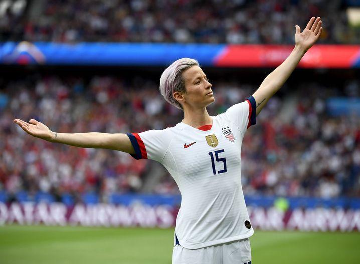 US-Nationalspielerin Megan Rapinoe wurde während der WM im Sommer zur Ikone des Kampfs für Gleichberechtigung