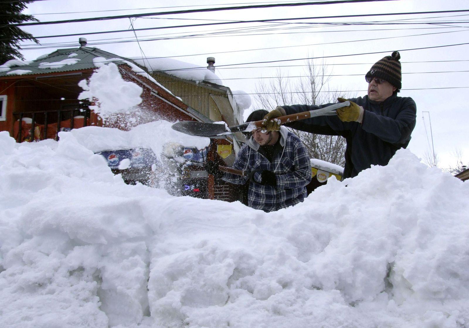 Chile Schneemassen