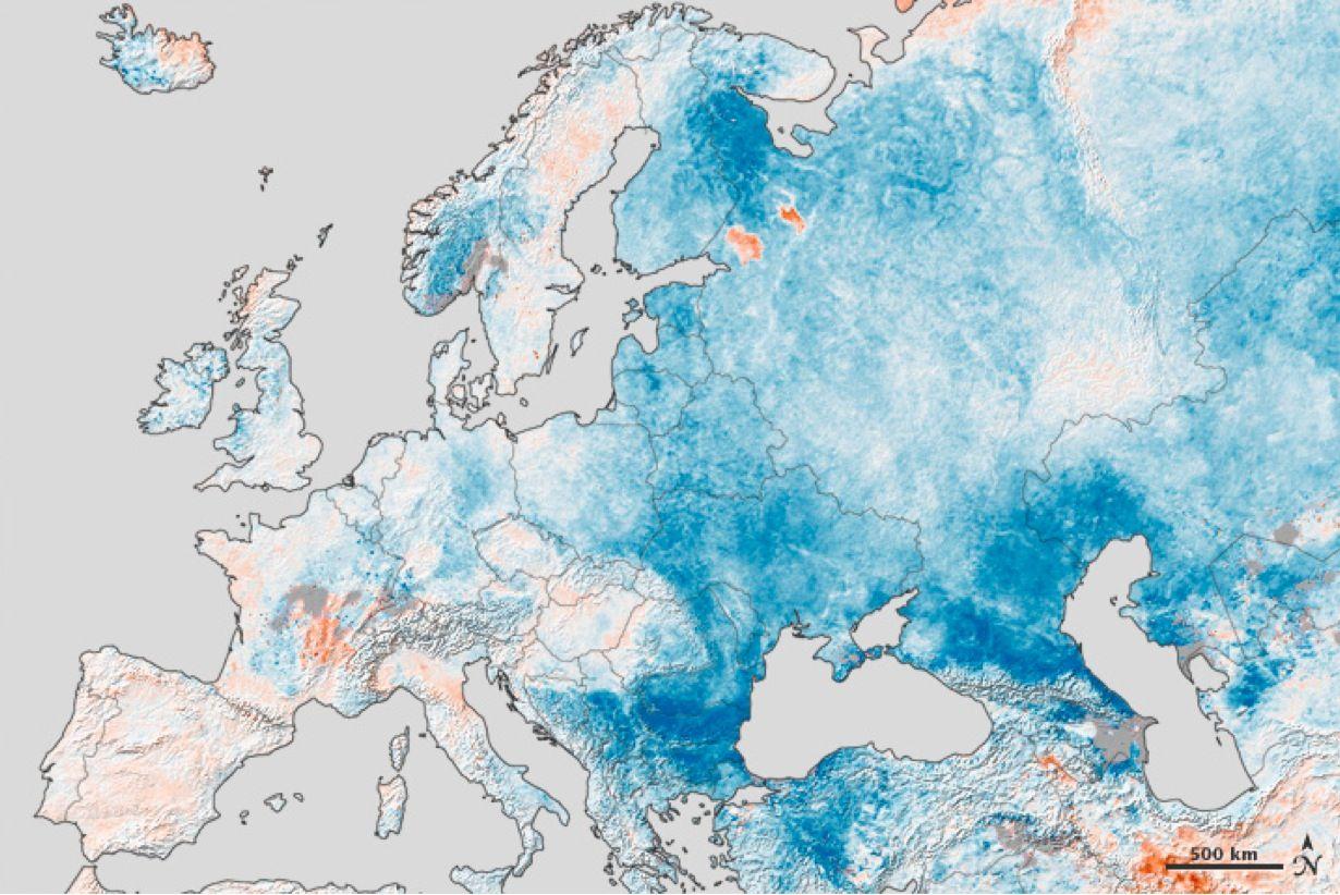 Satbild der Woche / Europa Winter / WISSENSCHAFT