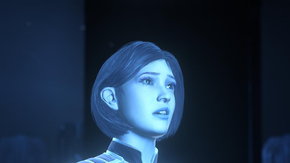 Cortana-Figur aus dem Microsoft-Spiel »Halo«