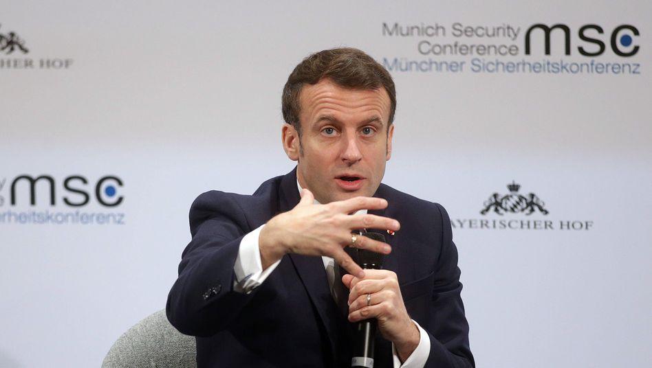 Emmanuel Macron auf der Münchner Sicherheitskonferenz: Nicht frustriert, sondern ungeduldig