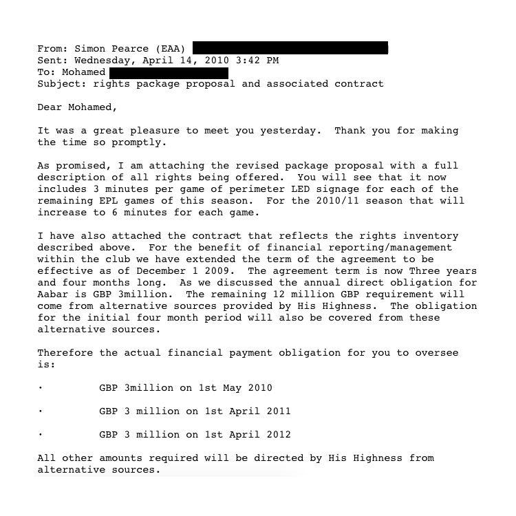 EINMALIGE VERWENDUNG Football Leaks / Mail Simon Pearce