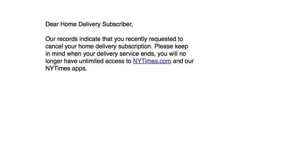 """E-Mail für acht Millionen: """"Lieber Abonnent ..."""""""
