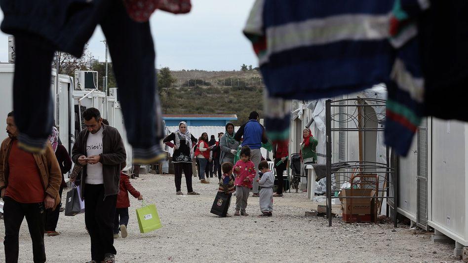 Flüchtlinge im griechischen Camp Ritsona nördlich von Athen