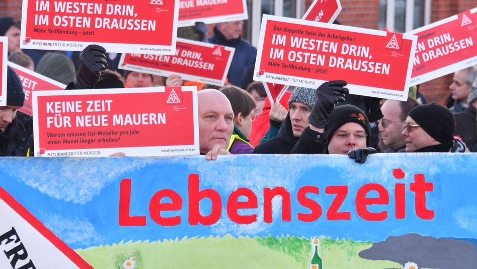 Warnstreiks bei Bombardier im brandenburgischen Hennigsdorf