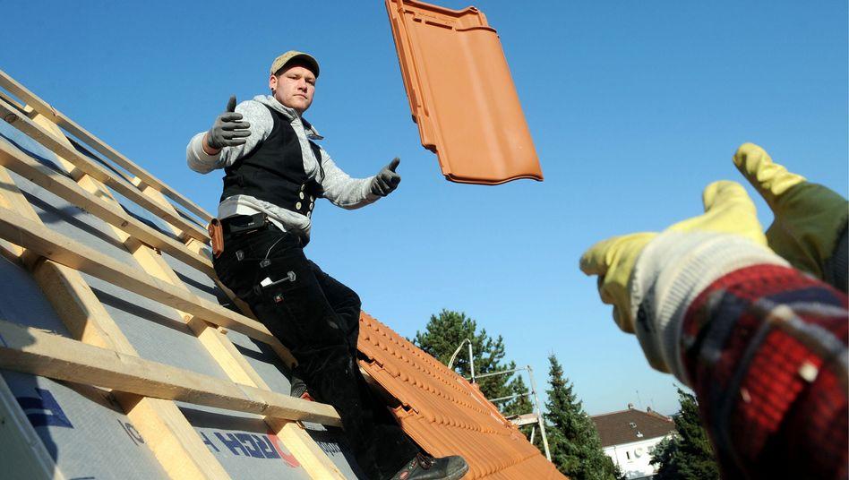 Dachdecker in Hessen: Hoffen auf die Binnenkonjunktur