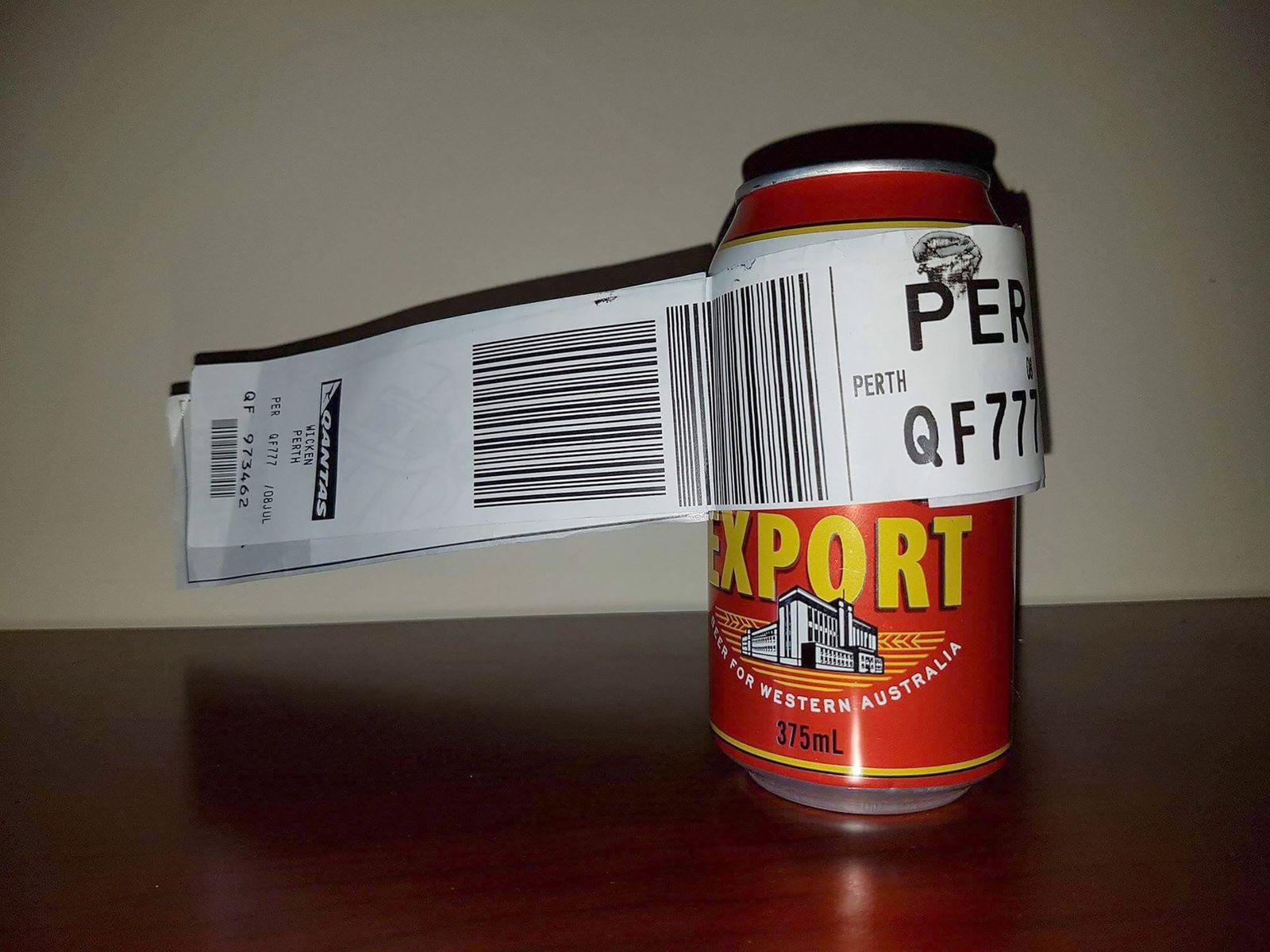 EINMALIGE VERWENDUNG Bier / Qantas