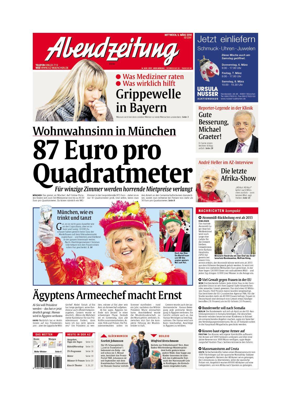 EINMALIGE VERWENDUNG Abendzeitung München