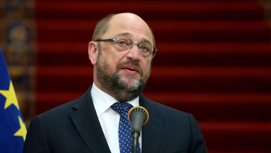 """Martin Schulz: """"Es ist gerade Payback-Time in Brüssel."""""""