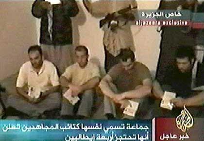 Italienische Geiseln im Irak