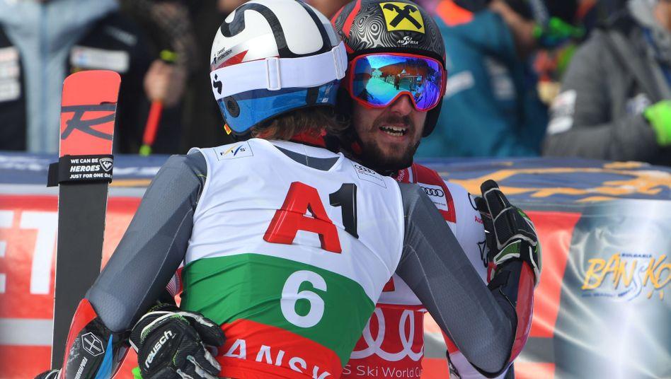 Henrik Kristoffersen (links) und Marcel Hirscher