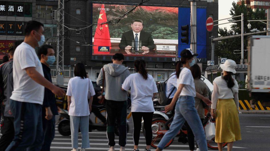 Die Rede Xi Jinpings vor der Versammlung der WHO-Staaten ist in Peking live zu sehen