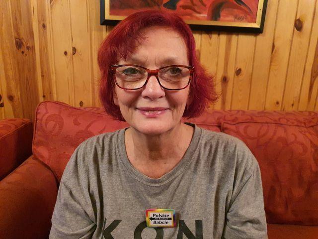 Iwonna Kowalska geht mit den polnischen Großmüttern auf die Straße