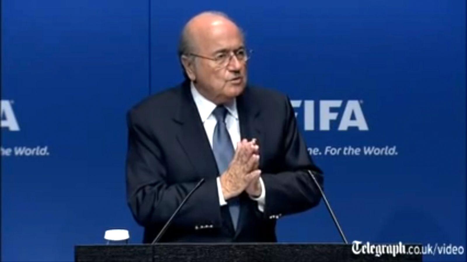 NUR ALS ZITAT Screenshot Sepp Blatter/ PK/ What crisis