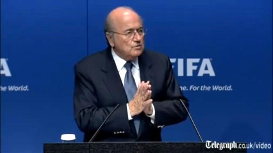 Fifa-Präsident Sepp Blatter: Eine Herausforderung für Reporter