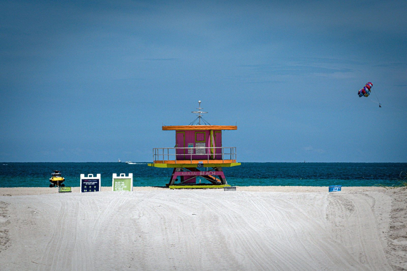 View of Miami Beach, in Miami, Florida, US, 03 July 2020. Due to daily new COVID-19 cases, Miami Dade County Mayor Carl