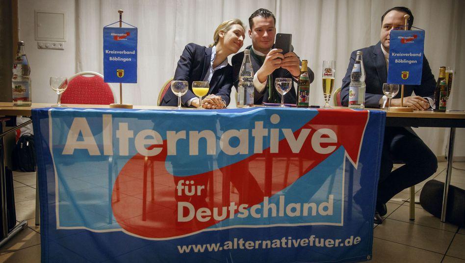AfD-Funktionärin Weidel, Vereinschef Bendels in Sindelfingen