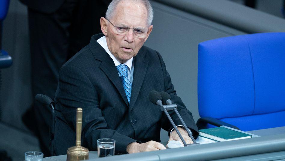 Wolfgang Schäuble (CDU), Präsident des Deutschen Bundestages
