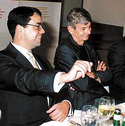 """Hunzinger und Fischer Anfang September 1998: """"Wahlkampf J. Fischer"""""""