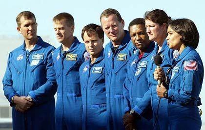 Columbia-Crew vor dem Start: Hätte die Tragödie vermieden werden können?
