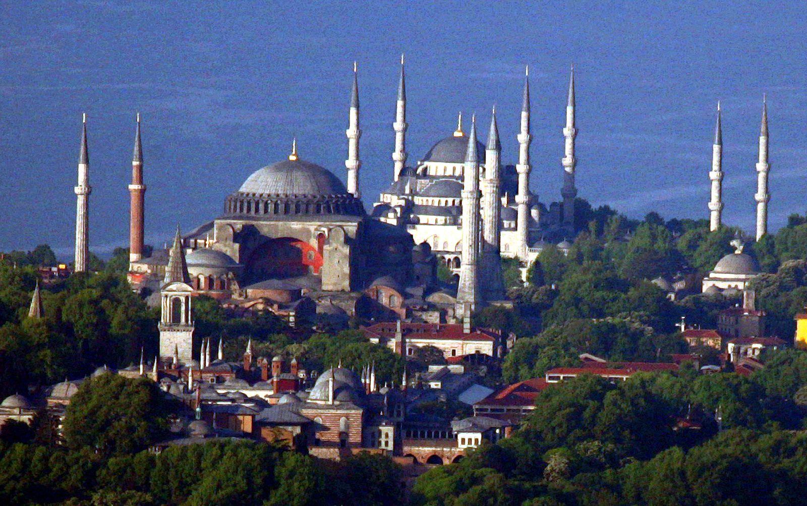 Städtetrip/ Istanbul/ Blaue Moschee/ Hagia Sophia